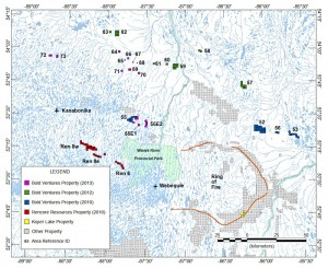 Bold Venture's holdings Ring of Fire area, northern Ontario